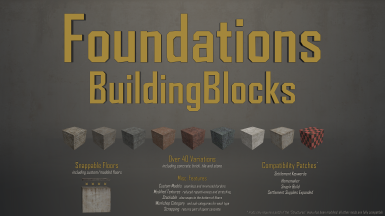 BuildingBlocks Foundations (snappable floors)