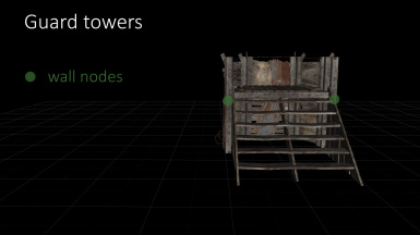 Snap nodes of guard towers