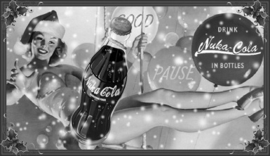 Christmas Nuka Cola  black n white
