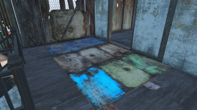 Plates with planks underneath to fill gaps in floors and roofs
