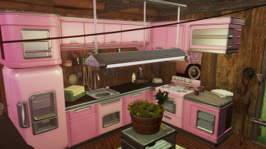 Pink Kitchen in homeplate