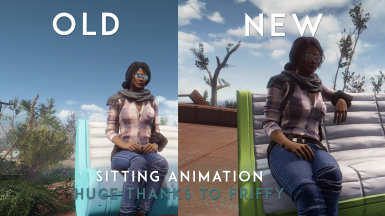 Sitting animation change