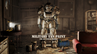 Military Tan Paint for All Power Armors - Standalone PaintJob