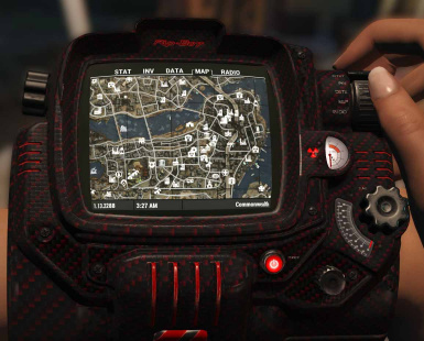 Red and Black Carbon Fiber Pip-Boy