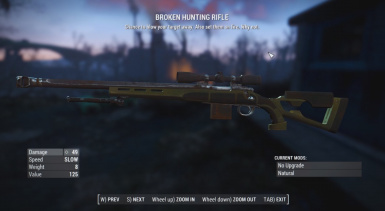 Broken Hunting Rifle Melee Weapon