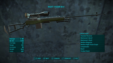 The M14 Standalone Rifle at Fallout 4 Nexus - Mods and community