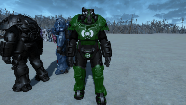 Green Lantern X01 Power Armor Paint (standalone)