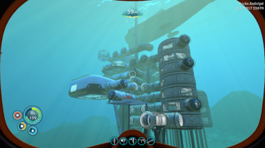 Le C-TV — built in the Grand Reef near Sparse Reef