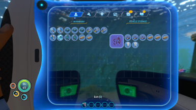 Storage opened from inside the Seamoth