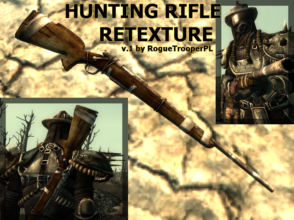 Hunting Rifle Retexture by RogueTrooperPL at Fallout3 Nexus - mods and community