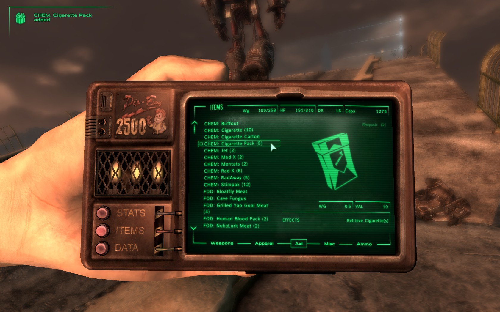 How to install the pipboy for Fallout New Veags 25 (desktop)