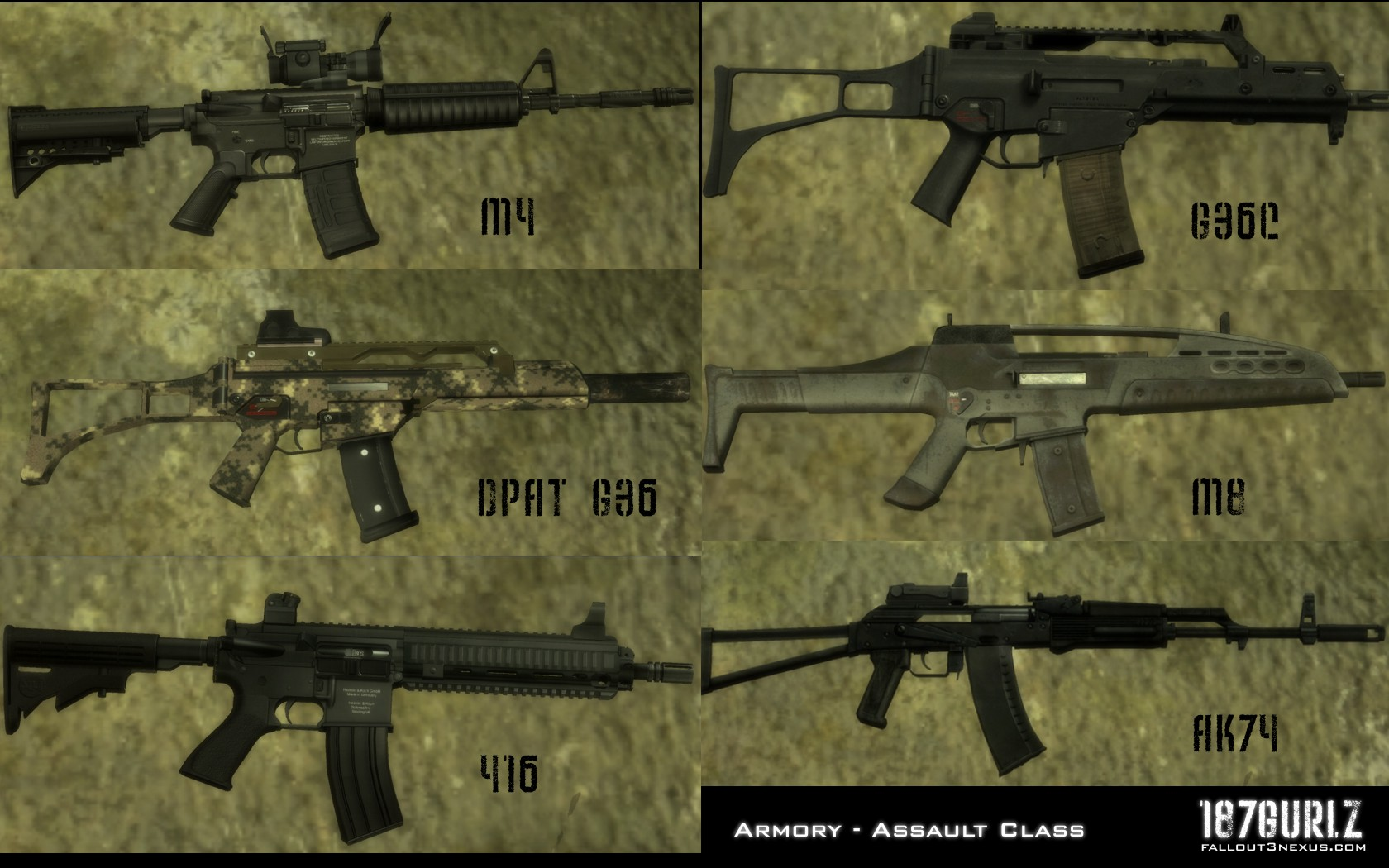 SCC 187 GURLZ Weapons Reloaded at Fallout3 Nexus - mods and