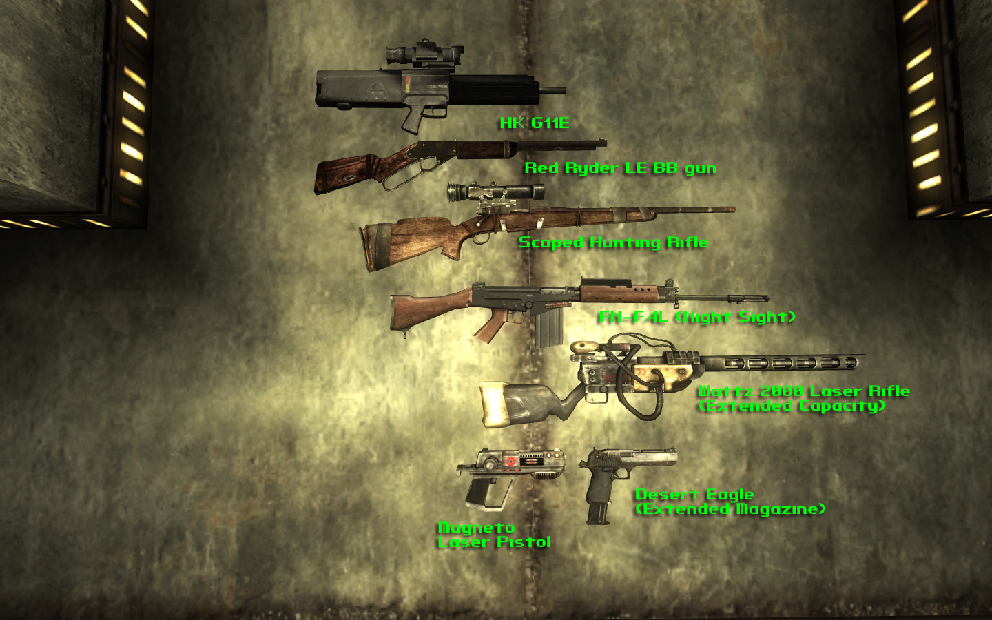 new vegas items in fallout 3