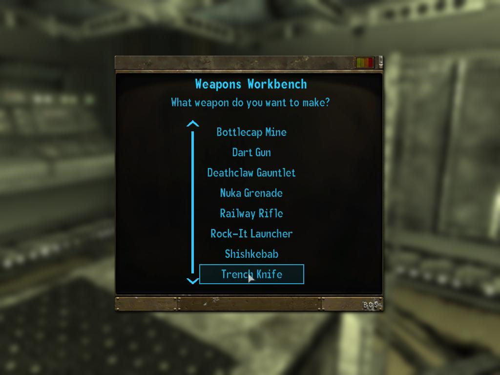Trench Knife Schematic at Fallout3 Nexus - mods and community on