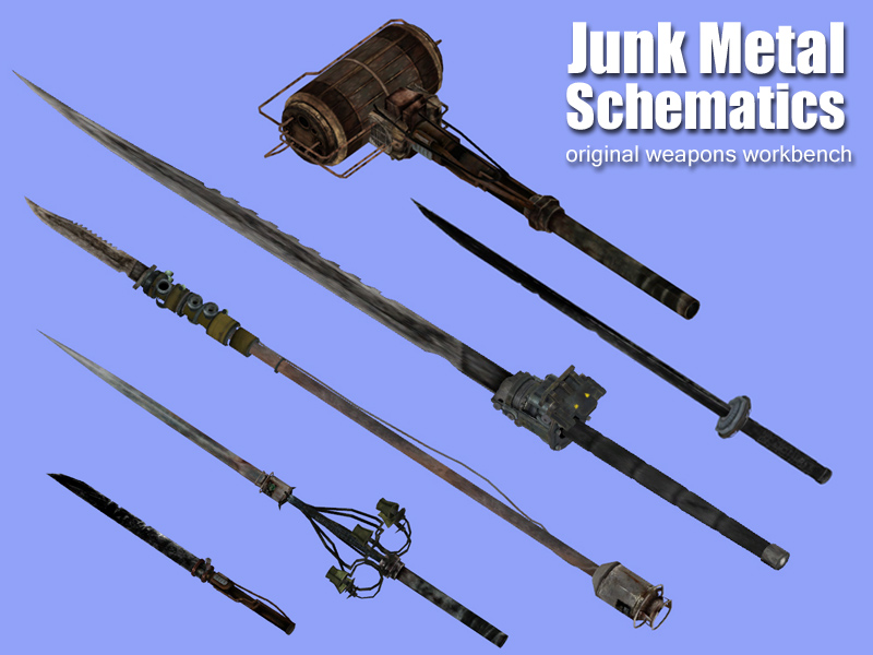 Junk Metal Schematics - original weapons workbench at ... on
