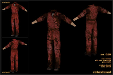 015 - Jumpsuit Red Male