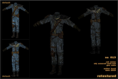 013 - Armored Vault Suit Male