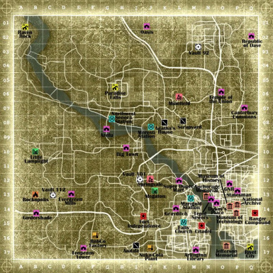 44 Quest Locations on Printable Map at Fallout3 Nexus - mods ...