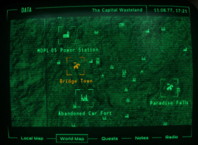 Pipboy Map Location