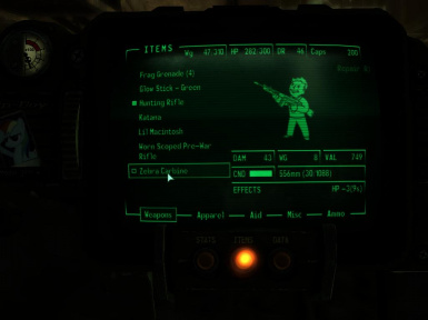 Pipboy Image - Stats etc