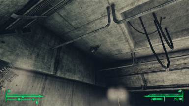 Turret stuck in Ceiling - Fort Independence Lower Level