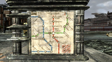 Metro Map Replacer At Fallout3 Nexus Mods And Community