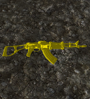 Gold Camouflage - Chinese Assault Rifle