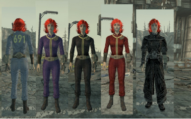 5 new retextured outfits