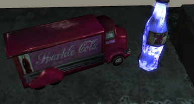 Sparkle Cola truck and Sparkle-Cola Rad