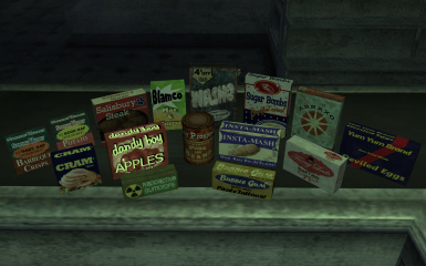 Fallout Food Package Retexture Compilation