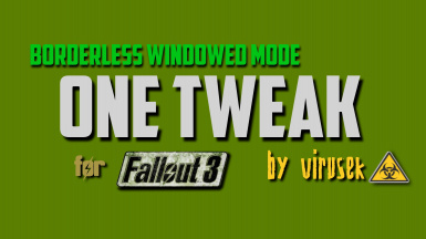 OneTweak for FO3