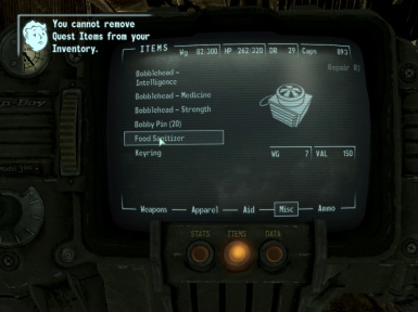 Food Sanitizer Tweak at Fallout3 Nexus - mods and community