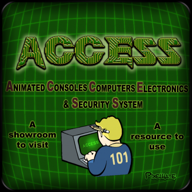 Animated Computers Consoles Electronics and Security Systems