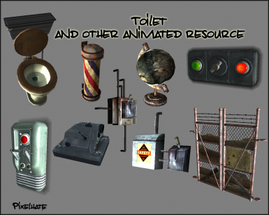 Toilet and other Animated Resources