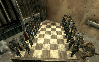 BOS vs Enclave chess set