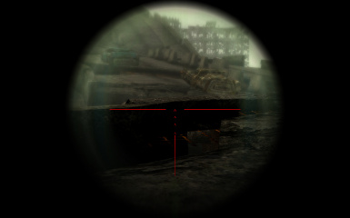 Red Scope Crosshair for Sniper Scope