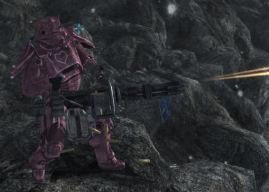 Pink Power Armor (cut content)