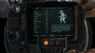 Clean and Clear Screens FO3 - PipBoy - Terminals - Race Menu