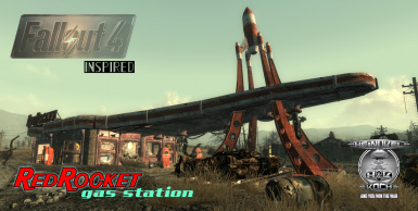 Fallout 4 Red Rocket Garage Home with Dog companion and two custom weapons for FO3