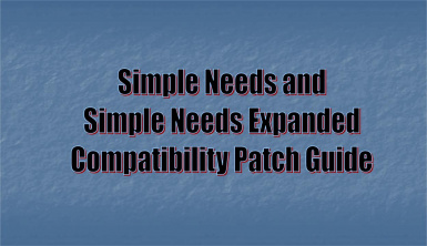 Simple Needs and Simple Needs Expanded Compatibility Patch Guide