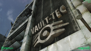 VaultTec HQ Exterior Sign
