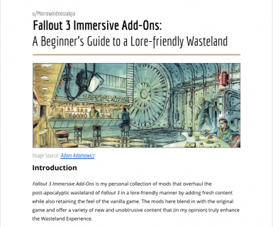 Fallout 3 Immersive Add-Ons - A Beginners Guide to a Lore