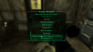 Weapon and Armor Repair at Workbenches