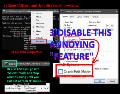 DISABLE QUICK EDIT MODE AS ADMINISTRATOR