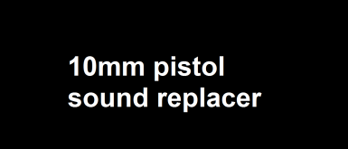 10mm pistol sound replacer