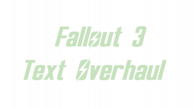 Fallout 3 Text Overhaul
