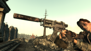 Suppressed 10mm SMG - Third Person