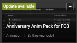 Anniversary Anim Pack for FO3