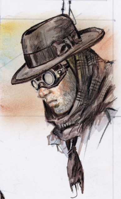 Stormchaser hat drawing by Adam Adamowicz