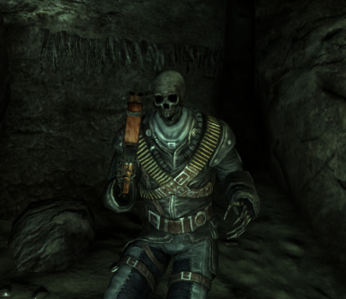 Skeleton in Merc Outfit